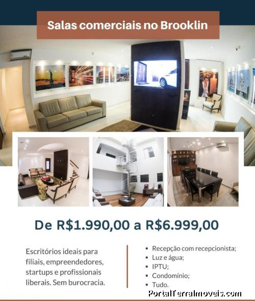 SALAS E ESCRITÓRIOS COWORKING BROOKLIN - SAO PAULO