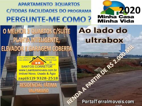 apartamento 3Quartos c/ suite e garagem elevado uma exclusividade na 1ª rua de valparaiso